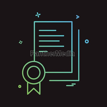 certificate icon design vector