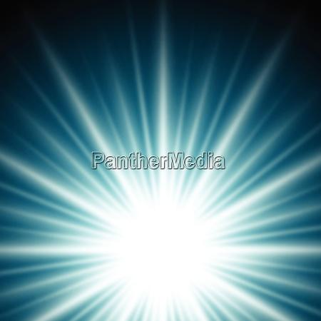 lighting effect sunburst or sunbeams on