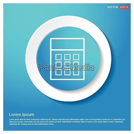 calculator icon abstract blue web sticker