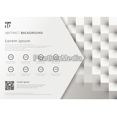 template layout white and gray geometric