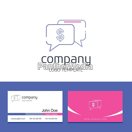 business card design with company logo