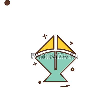 kite icon vector design