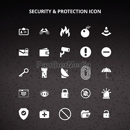 security and protection icons
