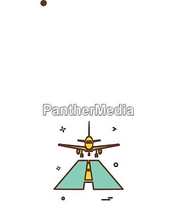 plane icon design vector