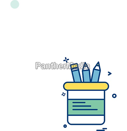 stationary icon design vector