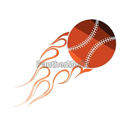 baseball fire ball icon baseball fire