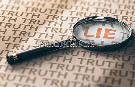 private investigator lies detection concept