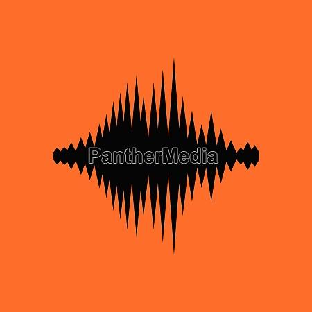music equalizer icon orange background with