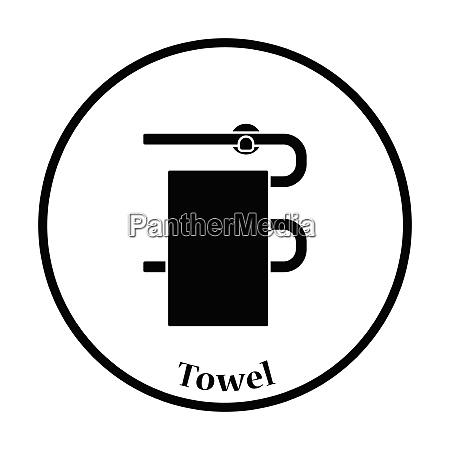 heated towel rail icon thin circle