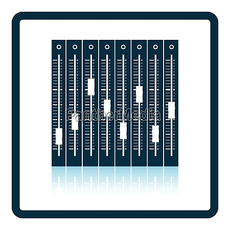 music equalizer icon shadow reflection design