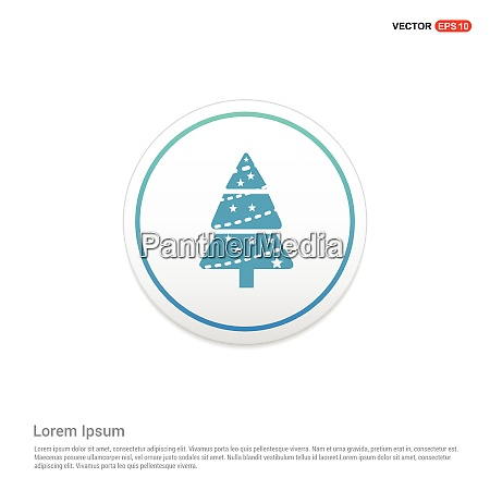 x mas tree icon hexa white