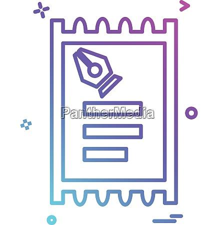 ticket icon design vector