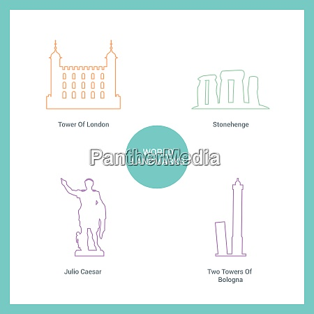 world famous landmarks and monuments design