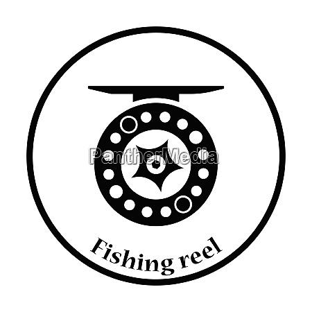 icon of fishing reel thin