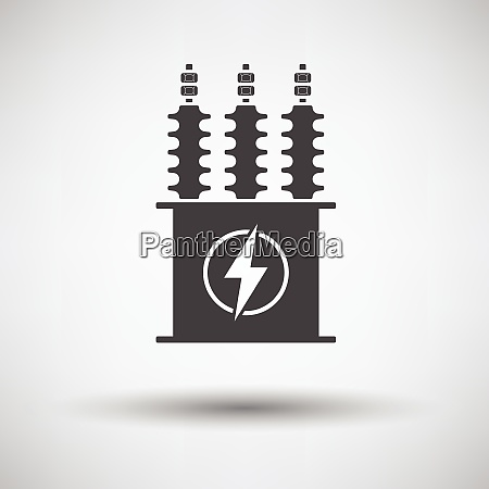electric transformer icon on gray background