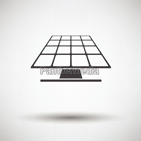 solar energy panel icon on gray