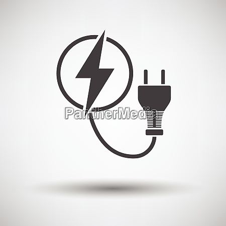 electric plug icon on gray background