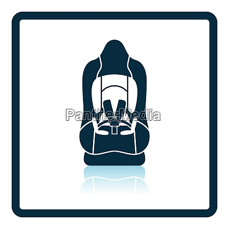 baby car seat icon shadow reflection