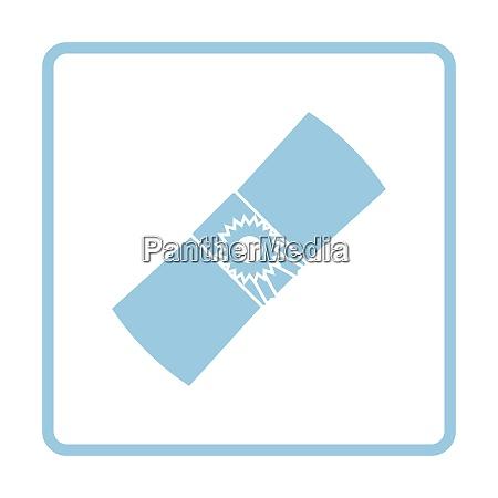 diploma icon blue frame design vector