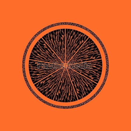 icon of orange orange background with