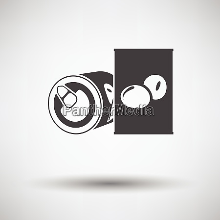 olive can icon on gray background