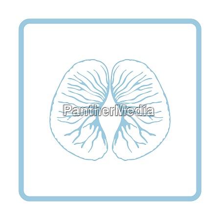 icon of mandarin blue frame design
