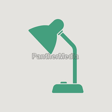 lamp icon gray background with green