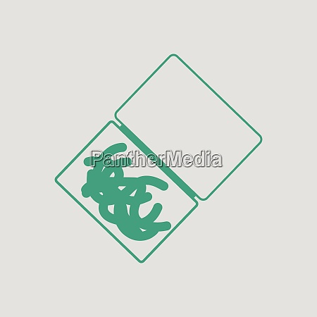 icon of worm container gray background