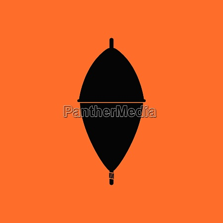 icon of float orange background