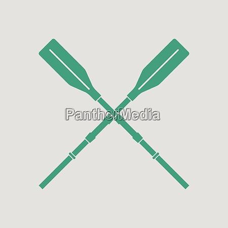 icon of boat oars gray