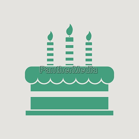 party cake icon gray background with