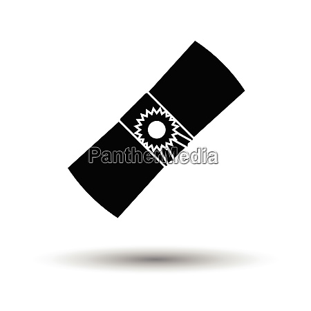 diploma icon white background with shadow