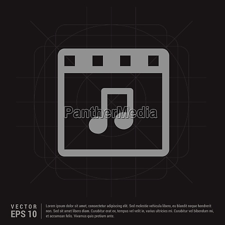 music note icon black creative