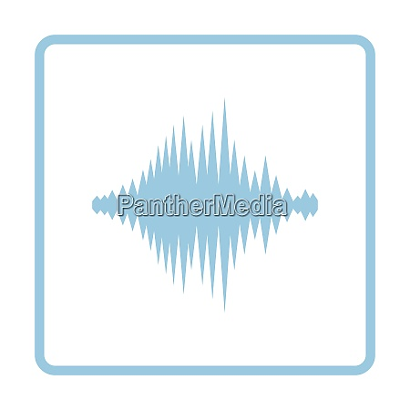 music equalizer icon blue frame design