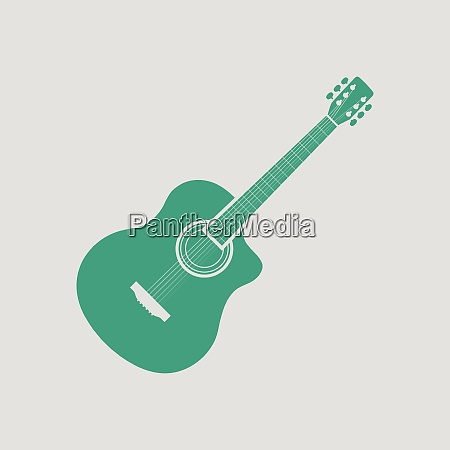 acoustic guitar icon gray background with