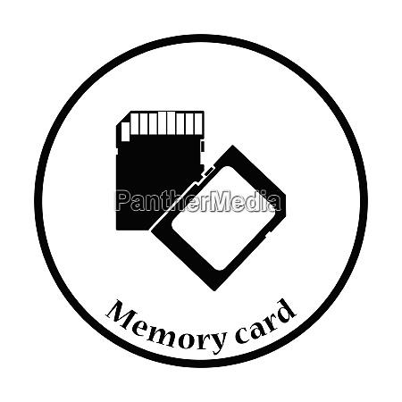 memory card icon flat color design
