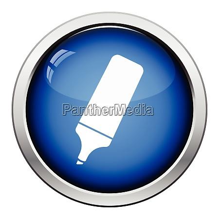 marker icon glossy button design vector