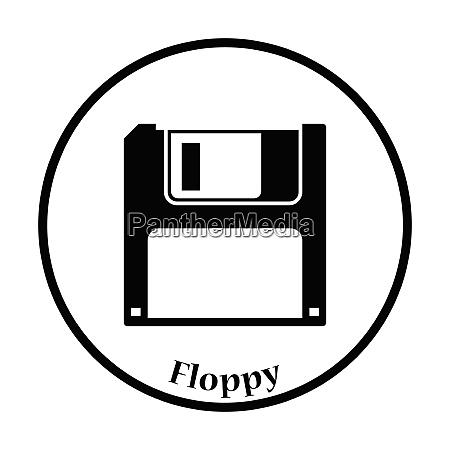floppy icon flat color design vector