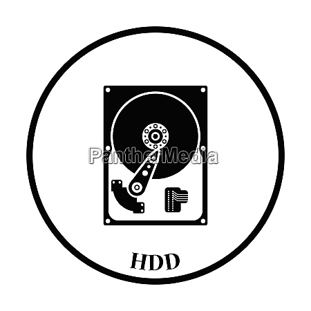 hdd icon flat color design vector