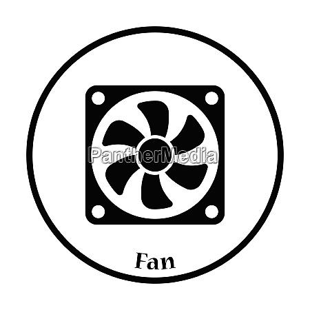 fan icon flat color design vector