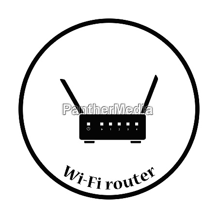 wi fi router icon flat color