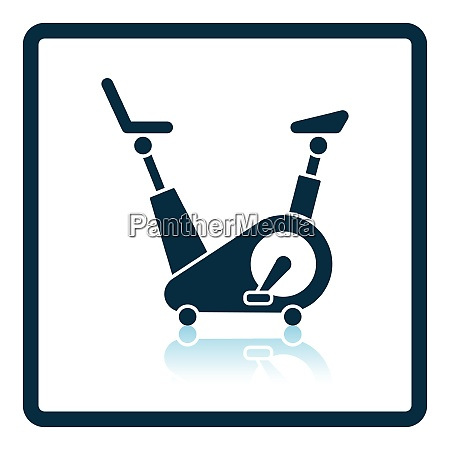 icon of exercise bicycle shadow