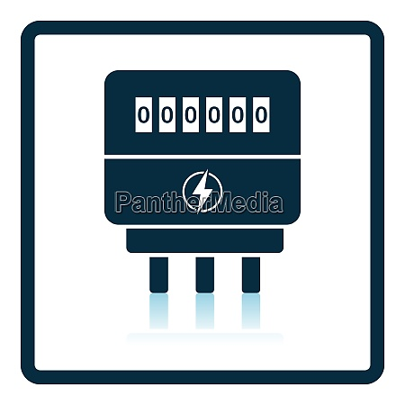electric meter icon shadow reflection design