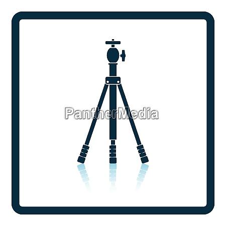 icon of photo tripod shadow reflection