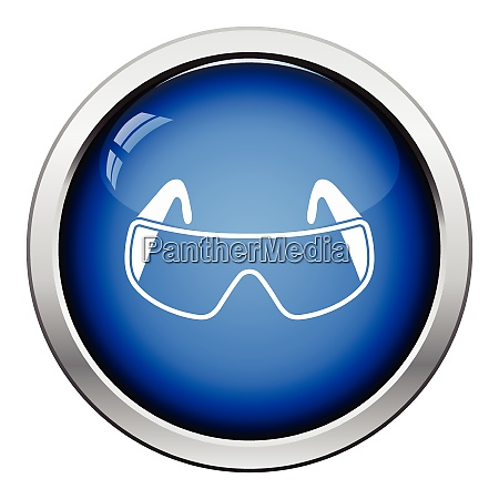 icon of chemistry protective eyewear glossy