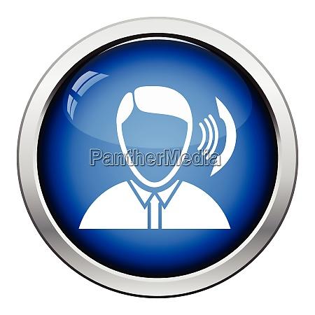 businessman avatar making telephone call icon