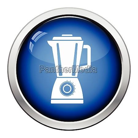 kitchen blender icon glossy button design