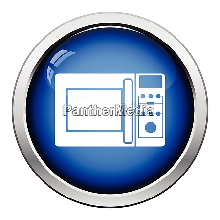 micro wave oven icon glossy button