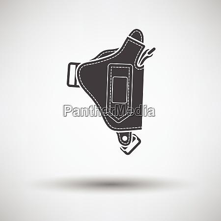 police holster gun icon on gray