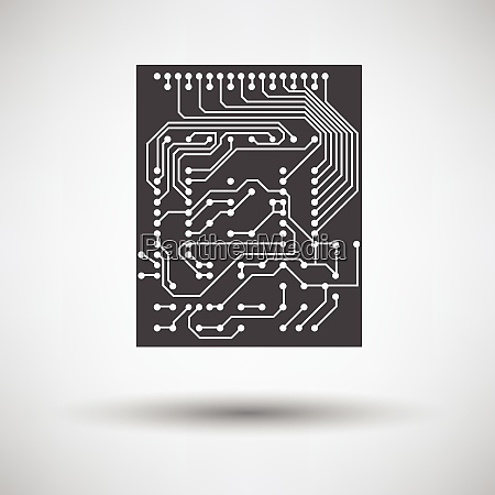 circuit icon on gray background with